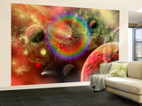 Artist&#39;s Concept Illustrating the Cosmic Beauty of the Universe Wall Mural  Large by Stocktrek Images 