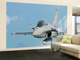 A Rafale B of the French Air Force in Flight over Brazil Wall Mural – Large by Stocktrek Images