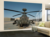 An Apache Helicopter at Camp Bastion, Afghanistan Wall Mural – Large by  Stocktrek Images