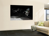 Two Manned Maneuvering Vehicles Explore the Airless, Microgravity Environment of a Small Asteroid Wall Mural by  Stocktrek Images