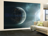Fleet of Colonization Ships Departing an Earth-Like Planet Wall Mural – Large by  Stocktrek Images