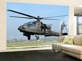 A Dutch Ah-64 Apache Deployed to Frosinone Air Base, Italy for Training Wall Mural – Large by  Stocktrek Images