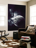 Artist's Concept of a Windy Planet with a Thick Atmosphere Wall Mural by  Stocktrek Images