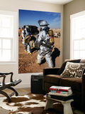 Firefighters Move a Casualty to a Triage Area at Camp Dwyer, Afghanistan Wall Mural by  Stocktrek Images