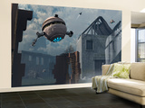 Space Probes and Androids Survey an Ancient Civilization Wall Mural – Large by Stocktrek Images