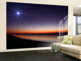 The Moon and Venus at Twilight from the Beach of Pinamar, Argentina Wall Mural – Large by  Stocktrek Images