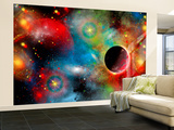 Artist's Concept Illustrating Our Beautiful Cosmic Universe Wall Mural – Large par Stocktrek Images