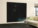 Comet Hartley 2 and the Double Cluster Wall Mural – Large by  Stocktrek Images