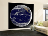 Satellite Image of Earth Centered over the Pacific Ocean Wall Mural – Large by  Stocktrek Images