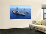 Flaring Operations Conducted by the Drillship Discoverer Enterprise Wall Mural by  Stocktrek Images