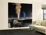 An Astronaut Observes the Ruption of One of Triton's Giant Cryogeysers Wall Mural – Large by  Stocktrek Images