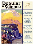 Front Cover of Popular Science Magazine: July 1, 1930 Poster