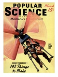 Front cover of Popular Science Magazine: March 1, 1940 Posters