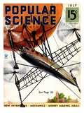 Front cover of Popular Science Magazine: July 1, 1930 Arte