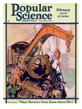 Front Cover of Popular Science Magazine: February 1, 1928 Print