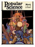 Front Cover of Popular Science Magazine: March 1, 1928 Prints