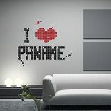 I Love Paname-Medium-Black Autocollant mural