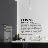 Definition Kitchen-Medium-Black Vinilos decorativos