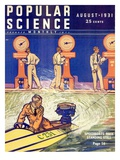 Front cover of Popular Science Magazine: August 1, 1931 Giclee Print
