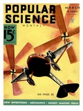 Front Cover of Popular Science Magazine: March 1, 1930 Affiches