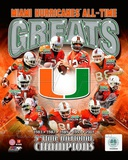 University of Miami Hurricanes All Time Greats Composite Fotografa