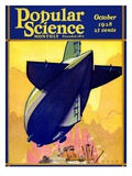 Front Cover of Popular Science Magazine: October 1, 1928 Psters
