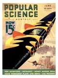 Front Cover of Popular Science Magazine: June 1, 1930 Poster