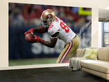 49ers Rams Football: St. Louis, MO - Vernon Davis Wall Mural – Large by Jeff Roberson
