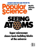 Front cover of Popular Science Magazine: April 1, 1989 Art