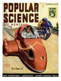 Front Cover of Popular Science Magazine: February 1, 1930 Giclee Print