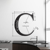 C by HMC-Black Wall Decal