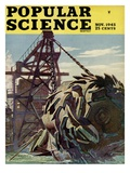Front cover of Popular Science Magazine: November 1, 1945 Poster