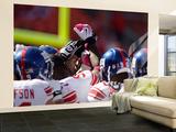 Giants Chiefs Football: Kansas City, MO - New York Giants huddle Wall Mural – Large by Jeff Roberson
