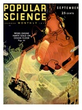 Front Cover of Popular Science Magazine: September 1, 1930 Kunstdruck