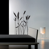 Ear of Wheat - Medium-Black Wall Decal