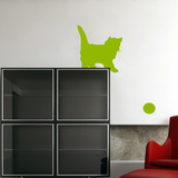 Playing Kittens-Apple Wall Decal