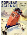 Front Cover of Popular Science Magazine: February 1, 1930 - Poster