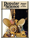 Front Cover of Popular Science Magazine: January 1, 1930 Art