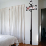 Paris Metro Sign-Bicolor-Medium Wall Decal