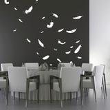 Feathers-Medium-White Adhésif mural