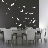 Feathers-Medium-White Vinilos decorativos