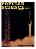 Front cover of Popular Science Magazine: March 1, 1947 Affiche