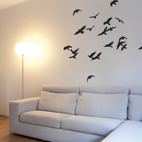 Birds In Flight-Black Wall Decal