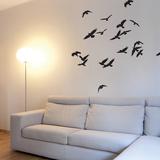 Lentävät linnut Seinätarra