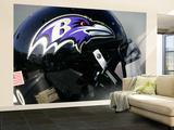 Ravens Raiders Football: Oakland, CA - A Baltimore Ravens Helmet Wall Mural – Large by Marcio Jose Sanchez