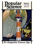 Front Cover of Popular Science Magazine: October 1, 1929 Giclee Print