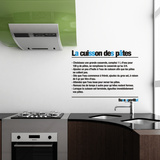 Cooking Pasta-Medium-Black Autocollant mural