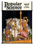 Front Cover of Popular Science Magazine: April 1, 1929 Art