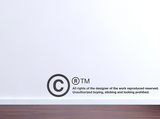 Copyright-Black Wall Decal