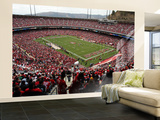 Falcons 49ers Football: San Francisco, CA - Candlestick Park Wall Mural – Large by George Nikitin